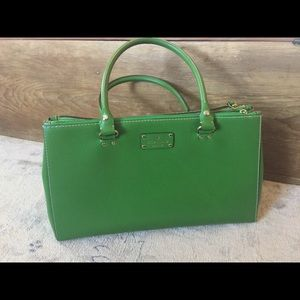 Gorgeous Kate Spade large green leather bag